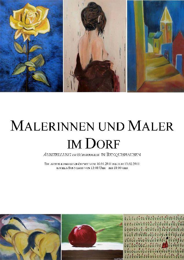 Ausstellung Malerinnen und Maler im Dorf