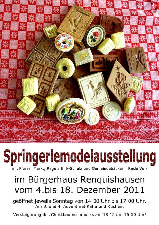 Springerle Model Ausstellung