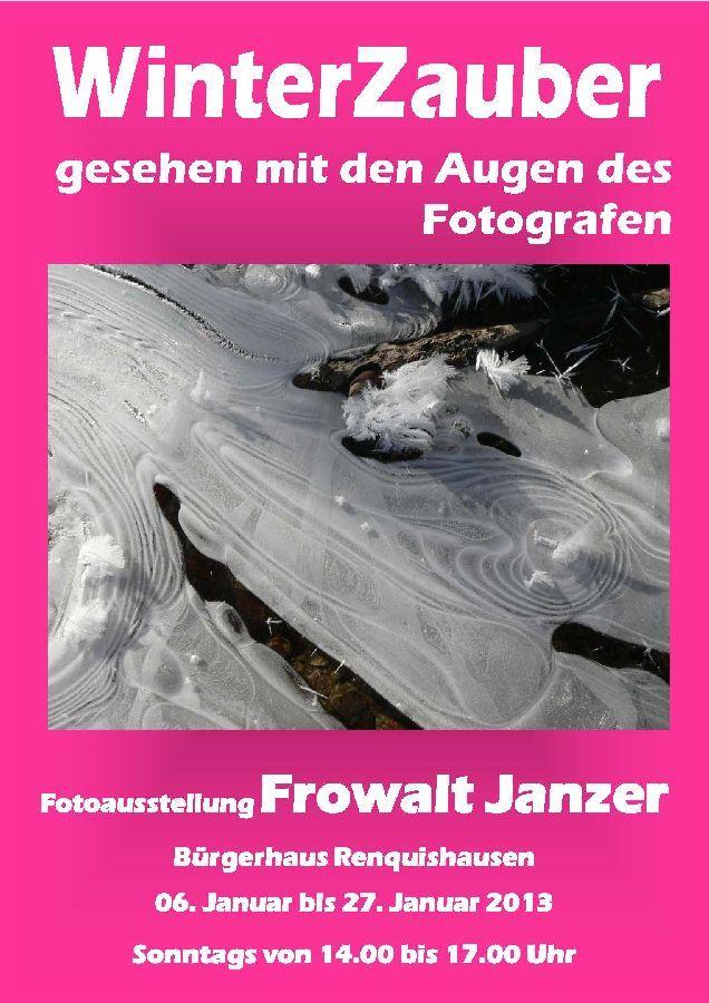 Fotoausstellung 2013 Winterzauber Frowalt Janzer