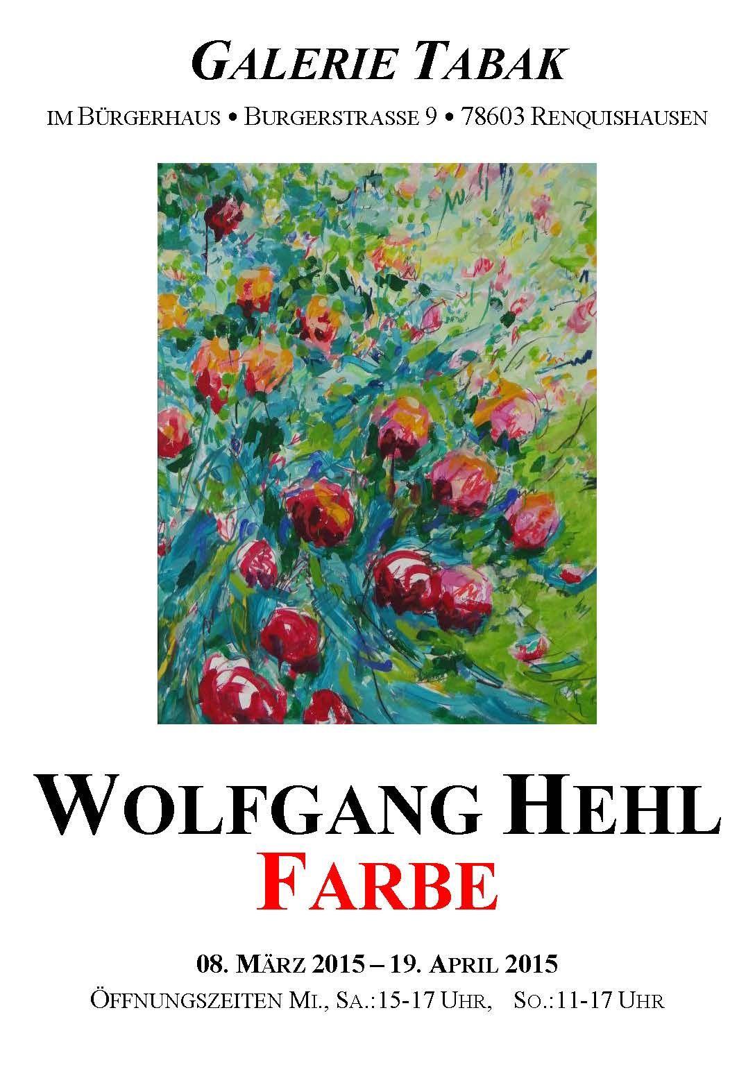 Plakat von Wolfgang Hehl zum Thema Farbe