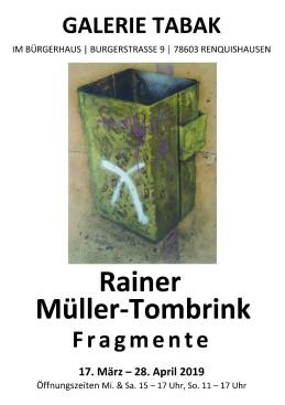 Plakat zur Ausstellung von Rainer Müller-Tombrink