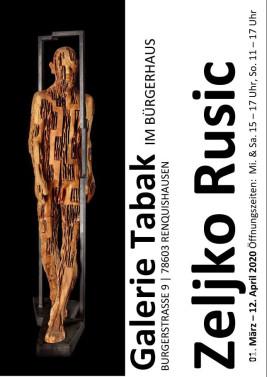 Plakat zur Ausstellung von Zeljko Rusic