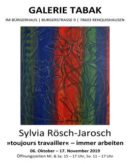 Plakat zur Ausstellung von Sylvia Rösch